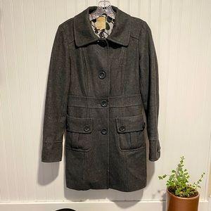 Tulle Gray Wool Pea Coat